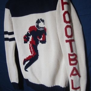 GAP Kids Football Sweater RARE Varsity Cardigan